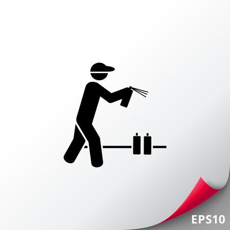 Man with Graffiti Spray Can Icon