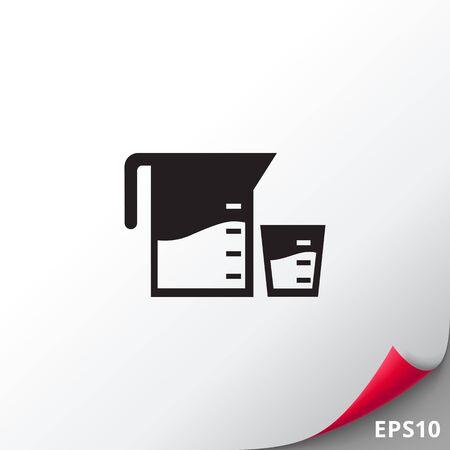 Mess- und Tassen-Symbol messen
