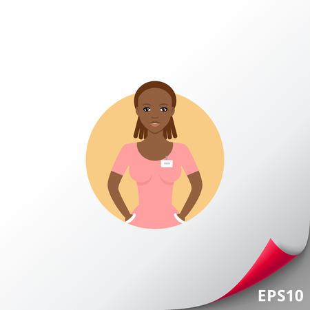 Nurse portrait icon Illustration