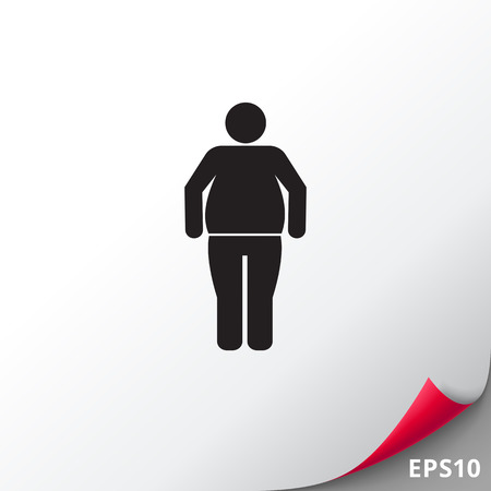 excess: Obesity man icon