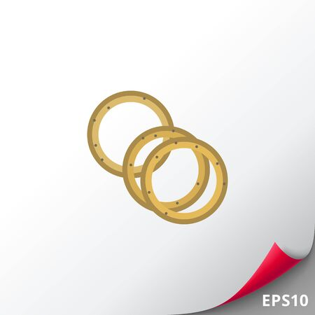 dipping: Onion rings icon