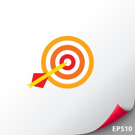 Dart arrow hitting target Illustration