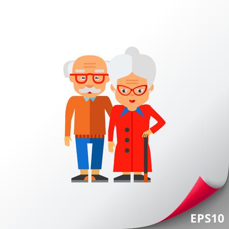 people: Elderly People Vector Icon