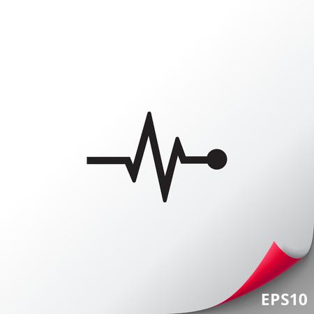 Electrocardiogram graph icon