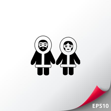 Eskimo simple icon Illustration