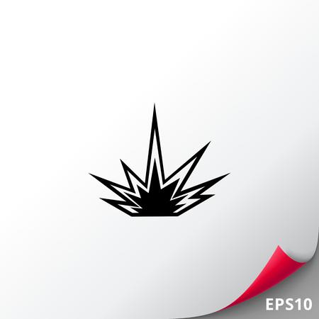 dynamite: Explosion simple icon Illustration