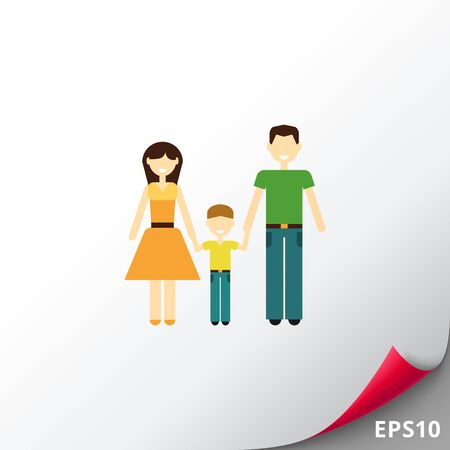 Family with child Illustration