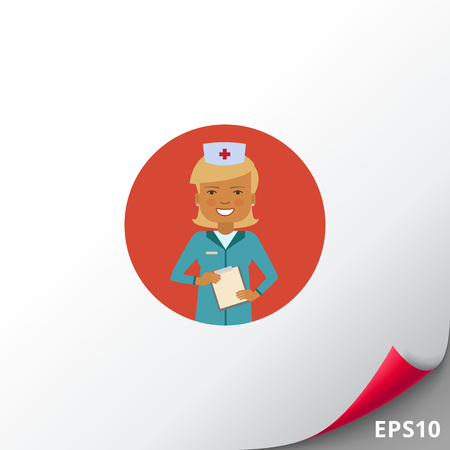 Female doctor holding clipboard