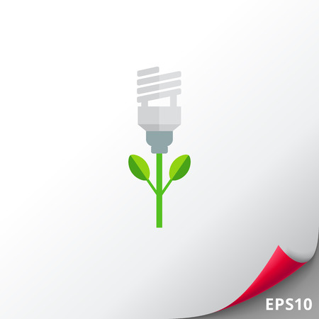 Fluorescent lamp flower Illustration