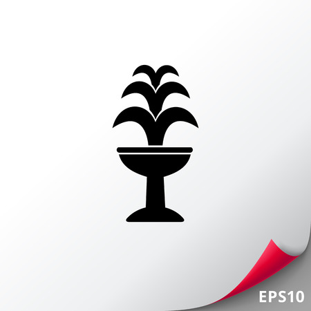 waterworks: Fountain on Standing Basin Icon Illustration