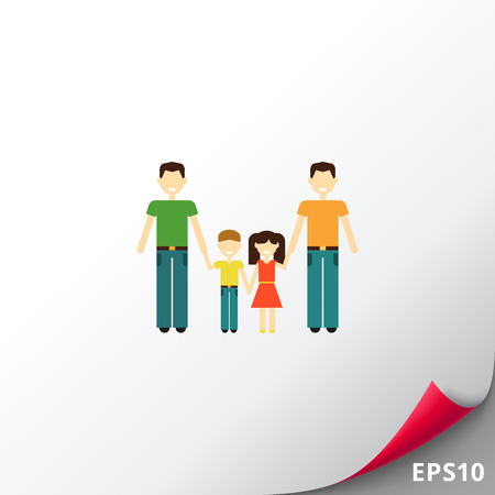 nontraditional: Gay family with children