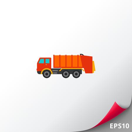 dumping: Garbage truck icon