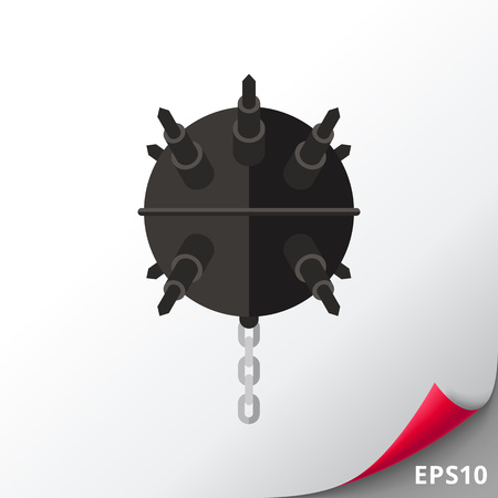 Naval Mine with Chain Icon
