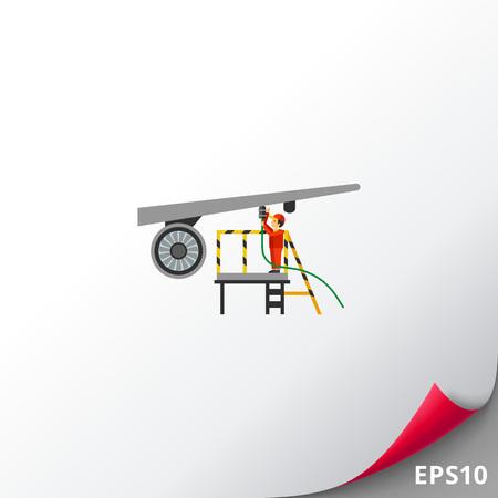 Aircraft maintenance icon