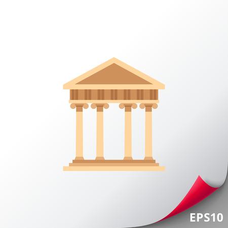 doric: Ancient Greek architecture icon Illustration