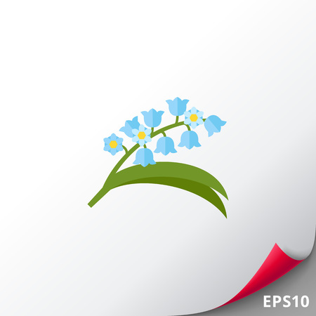 Blooming lily of valley icon
