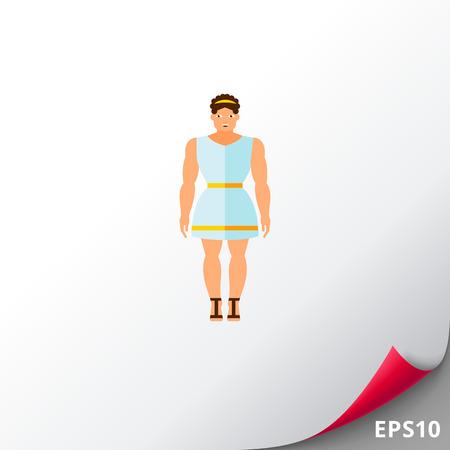 i i  i i toga: Alegre griego antiguo icono Vectores