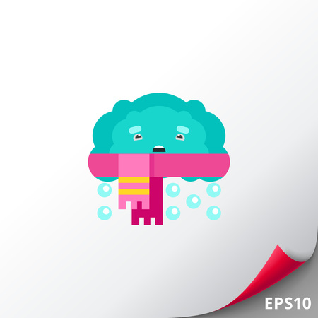 Cloud and Scarf Vector Icon