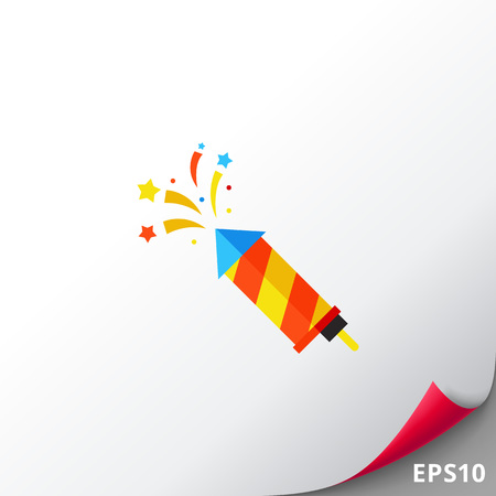 Colorful striped slapstick icon