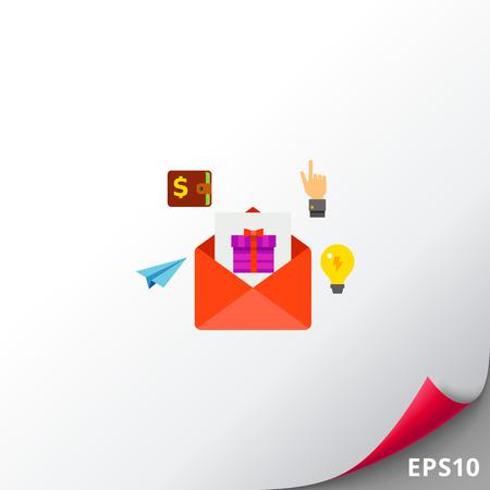 E-mail Marketing Vector Icon