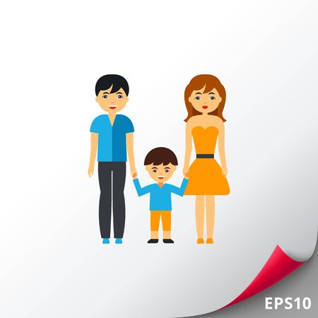 Family therapy vector icon