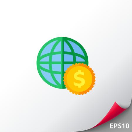 Globe and Dollar Icon