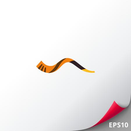 Jewish horn shofar icon Illustration