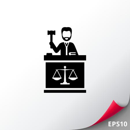 Richter mit Hammer-Symbol