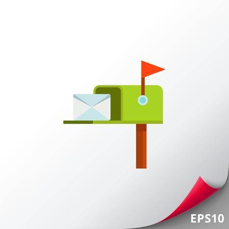 Correo Post Box icono del vector