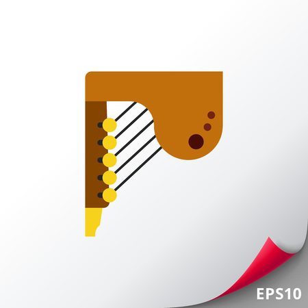 Ludofono musical instrument icon Illustration