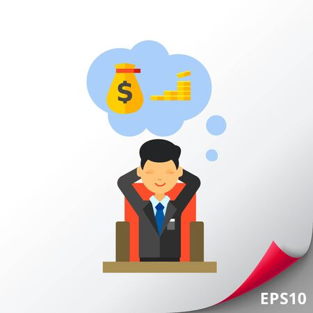 passive income: Man Dreaming About Money Icon