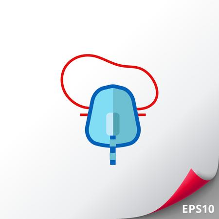 asthma inhaler: Medical Oxygen Mask Icon