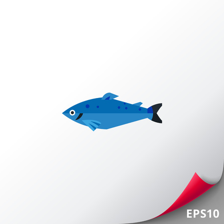 Norwegian salmon icon Illustration
