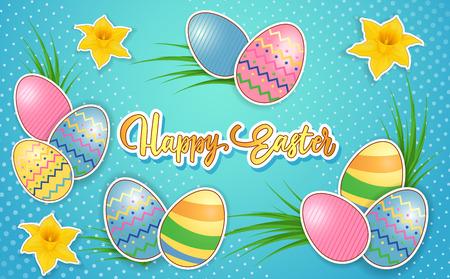装饰彩蛋的复活节祝福语