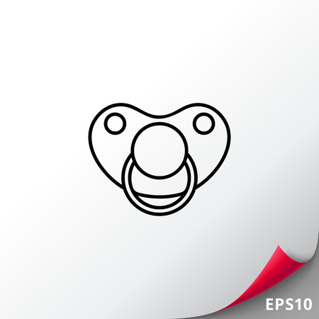Pacifier icon Illustration