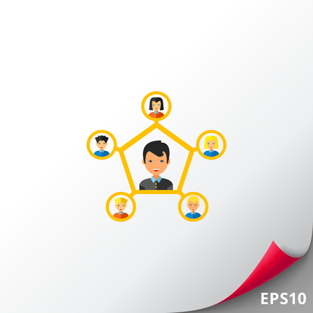 interpersonal: Personal connection flat icon
