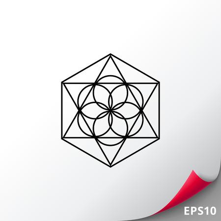 Philosophy simple icon Illustration