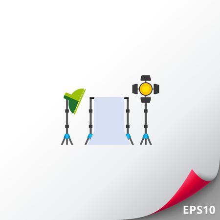Photo Studio Kit Vector Icon