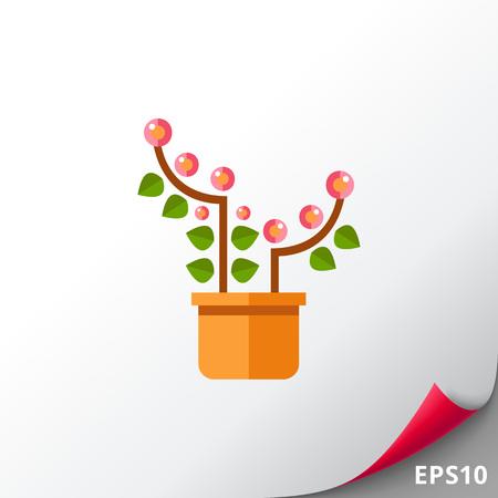 Pink blooming flower Illustration