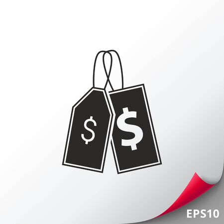 pricing: Price tags icon Illustration