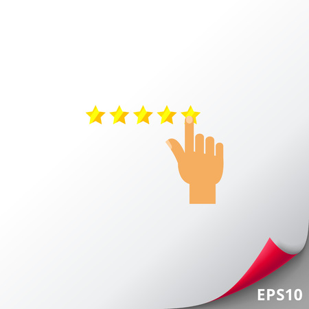 Rating and Five Stars Icon