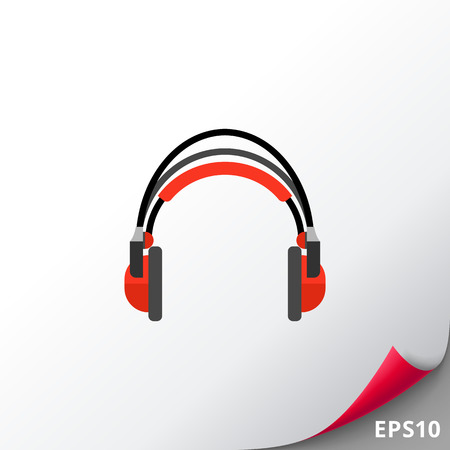 Red headphones icon