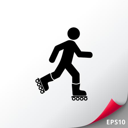 Hombre de patinaje sobre ruedas. Diversión, recreación, habilidad. Concepto de patinaje sobre ruedas. Puede usarse para temas como deporte, estilo de vida, patinaje sobre ruedas.