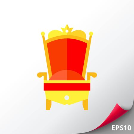 upholstered: Gold Royal Chair Icon