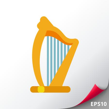 Irish harp vector icon