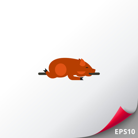 Lechon dish icon Illustration