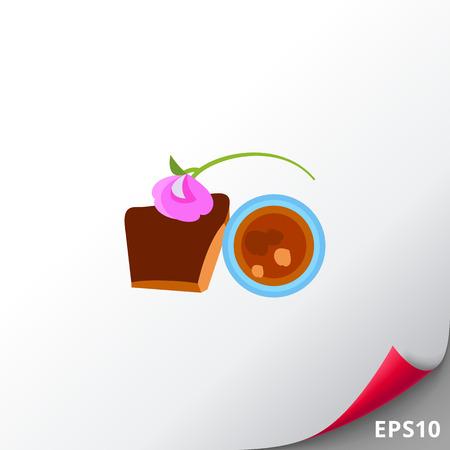Savon noir avec des fleurs vecteur icône