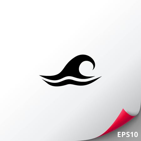 to spend the summer: Sea Wave Icon Illustration