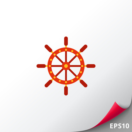 Ship steering wheel icon