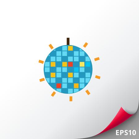 shiny: Shiny disco ball icon Stock Photo